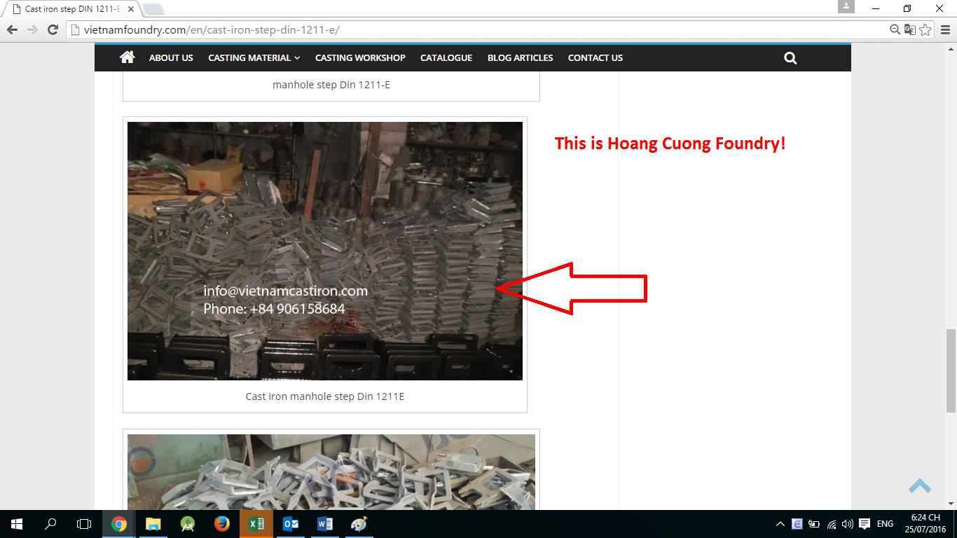 Hoang Cuong Foundry fake